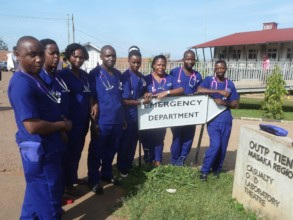 Inaugural ECP Diploma students outside Masaka ED