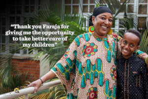 Amina is one of the beneficiaries of the Fund