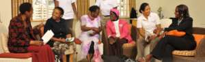 Faraja's breast cancer support group in 2012