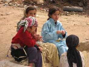 Girls in Village