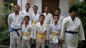 Vision Impaired Judo Students in Bali