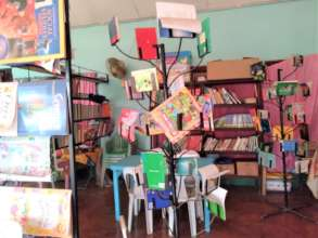 Book tree made by school dad