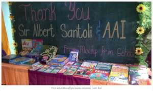 Donated AAI school books to Manilop Elementary