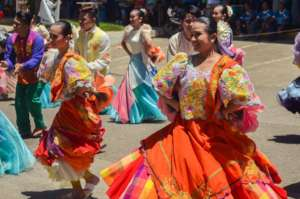 Christian high school dancers perform in Visayas