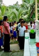 hand wash facility at elementary school in Sulu