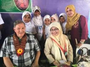 Sulu School Superintendent and mini-nurses