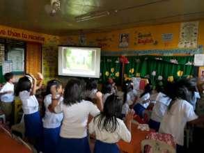 Electronic classroom in Sulu w/ decor by teacher