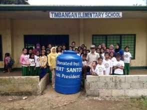 rainwater catching tank at Timbagan Elementary