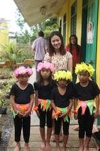 School gardeners with 4th grade  teacher in Capiz