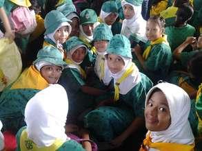 Girl Scouts at Sahaya Madrasa, Sulu