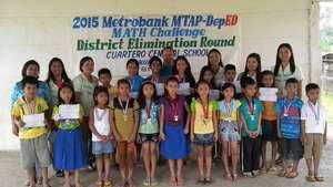 Regional math winners at Maindang ES