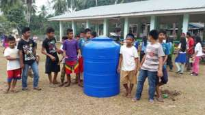 new water tank at elementary school