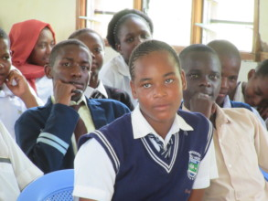 Students listen intently during conference