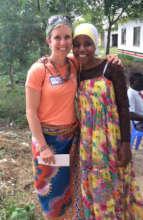 Missy and Miriam meet in Taru Village