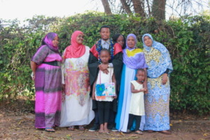 Salim with his family
