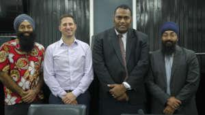 Hon. CM Ratuvili with the ICAAD Team