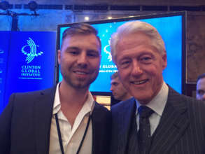 President Clinton & ICAAD Board Mem. Bryan Miller