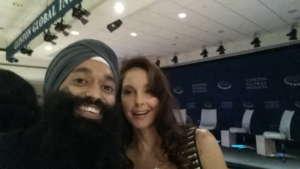 Ashley Judd & Jaspreet Singh discussing theproject