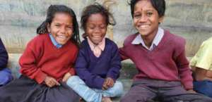 SMILING FACES IN THE SCHOOL