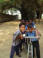 Enjoying my teacher bicycle