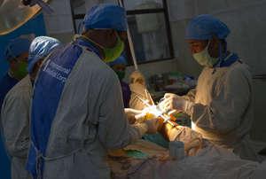 Surgery at Patan hospital in Kathmandu