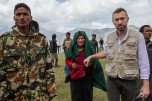 Sean supports our emergency relief effort in Nepal