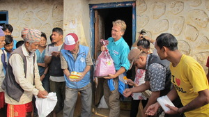 Your gift is providing emergency supplies in Nepal