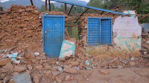 Destroyed primary school