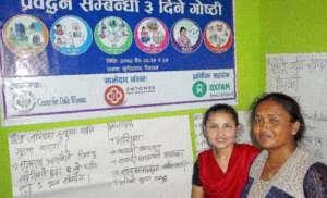 Board Members, Gaura and Sangita open the workshop