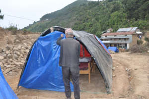 Tents being set-up at Dalchowki
