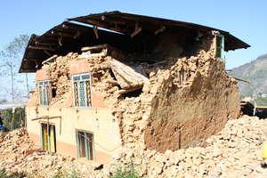 Damaged House due to earthquake