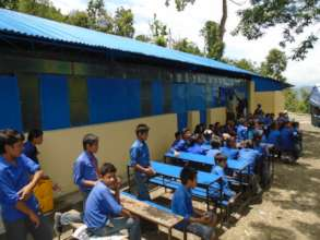 Revived schools with building and furnitures