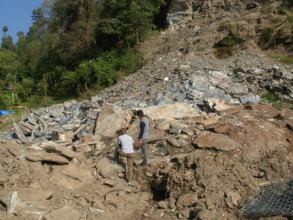 Landslide above Hagam