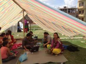 PHASE works from tents  - 28th April 2015