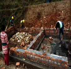 Ongoing reconstruction in Dhading