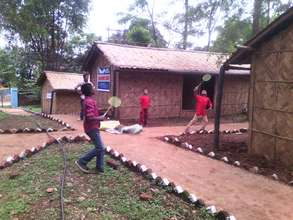 Children playing at our transit home in Dhading