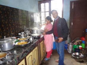preparing food for elderly people
