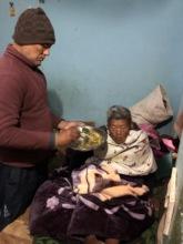 Feeding 94 years old Elder