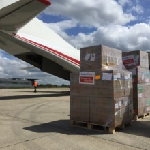 Shipment of supplies ready to go