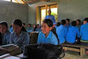 Tashi Sherpa at her new desk in her new school!