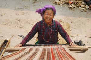 Weaving sacred cloth from stinging nettle fibers