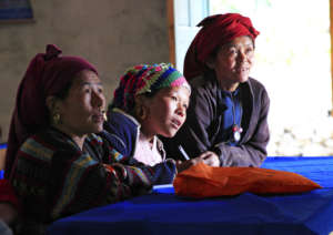 Villagers attend an agriculture training