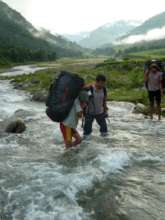 Transporting materials in Monsoon is challenging!