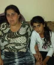 Kimete and her daughter Edita