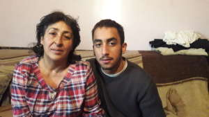 Besime and her son Emran