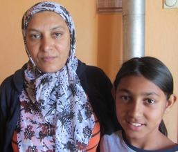 Shkurte and her mother, Vahide