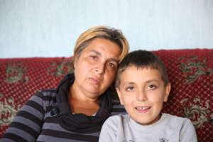 Istisha and her son Omer