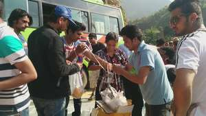 Food given in severely affected Dhading District