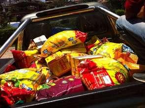 Food grains for distribution in Sangla