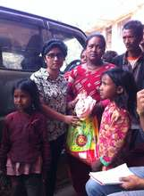 Families receive food kits and drinking water